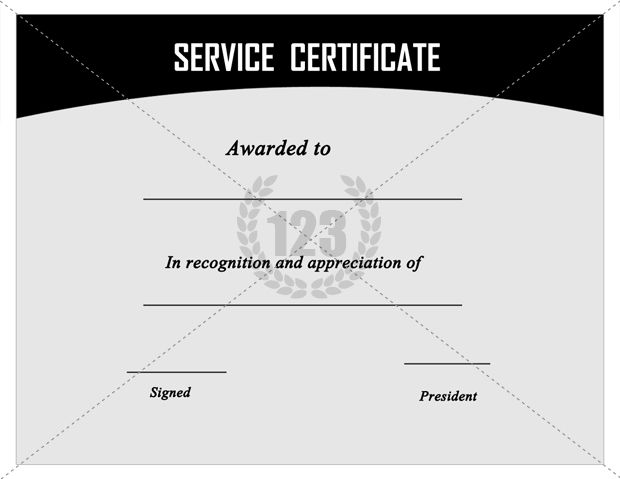 Pin by thomson chemmanoor on certificate template pinterest for Recognition of service certificate template