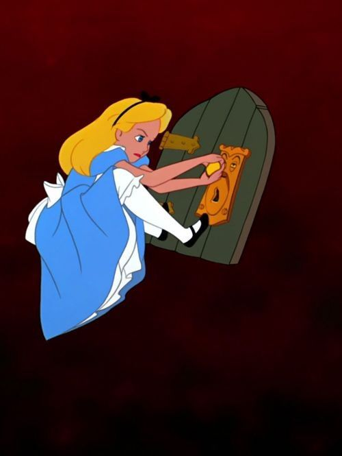 Alice an the small door a level art exam doorways for Alice in wonderland door knob disney decoration