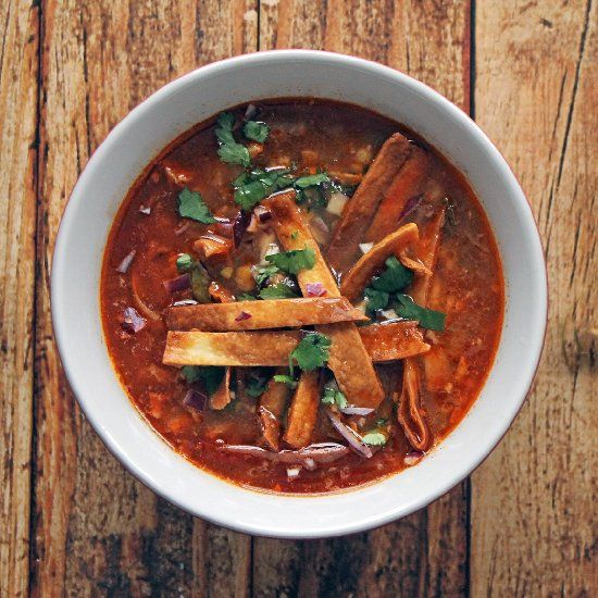 The very best chicken tortilla soup recipe with variations for both ...