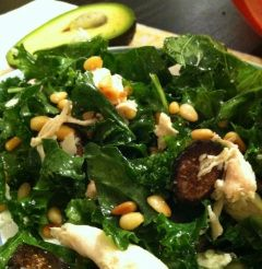 Kale & Chicken Salad: Chopped kale Pine nuts - toasted quickly on the ...