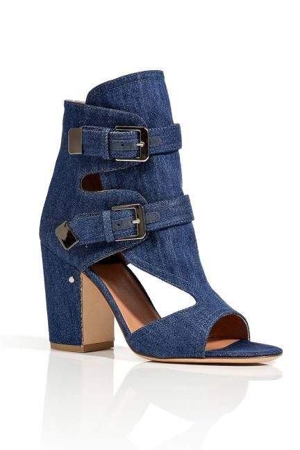 Denim Bootie: Spring Shoes for Women 2013 - Spring Heels Wedges Flats