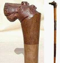 Walking stick canes and walking sticks pinterest - African Hand Carved Wooden Hippo Cane African Canes
