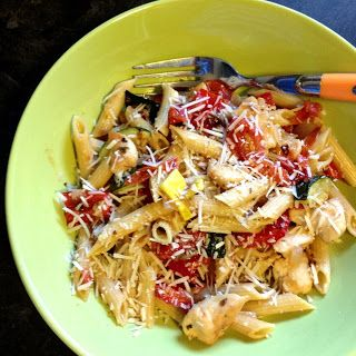 Roasted Vegetable and Chicken Pasta Toss | Pass the Pasta | Pinterest