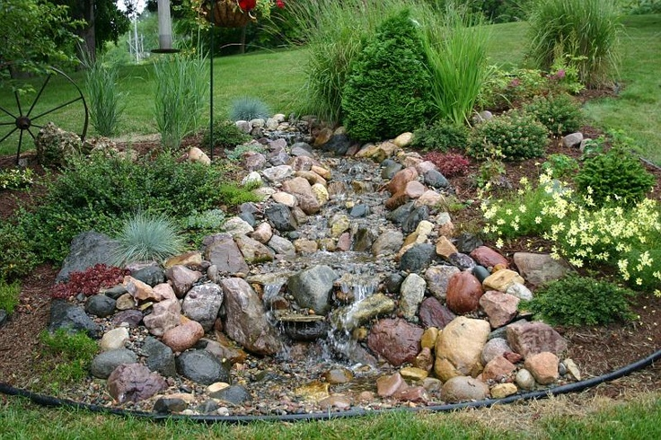 Pondless waterfall our patio landscape pinterest