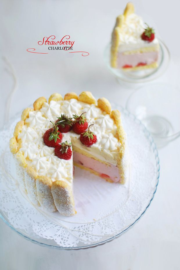 Strawberry charlotte cake | Just Desserts | Pinterest
