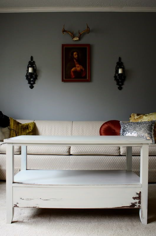 Rustic White Coffee Table For The Home Pinterest