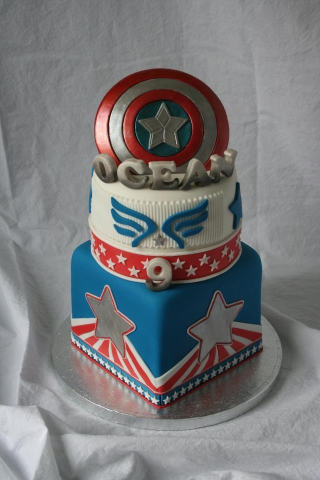 Captain America Cake pretty cakes Pinterest