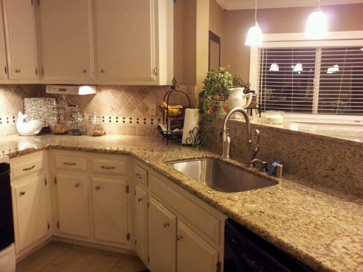 Off white cabinets with taupe walls  For the Home  Pinterest