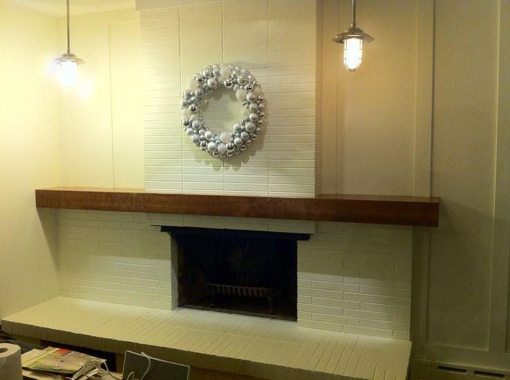 brick fireplace makeover decor pinterest