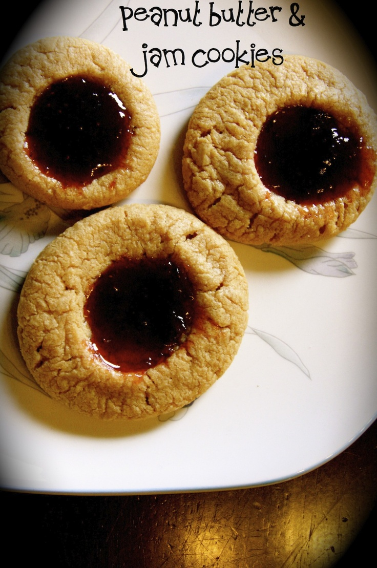 Peanut Butter & Jam Cookies - I have 2 bags of pb cookie mix (cheater ...