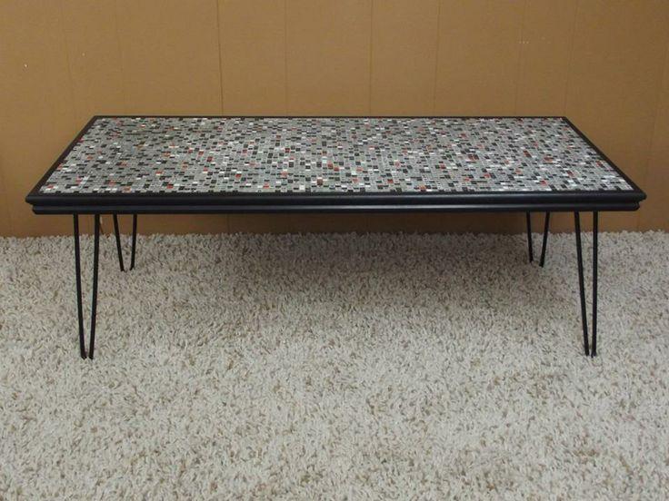 Mosaic Tile Hairpin Leg Coffee Table Tables Pinterest