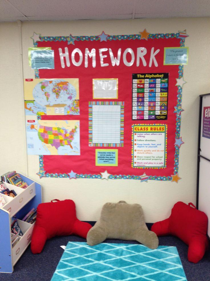homework bulletin board