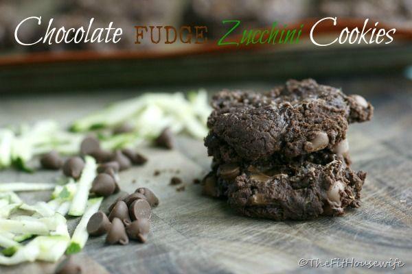 Chocolate Fudge Zucchini Cookies | Healthy Eats | Pinterest