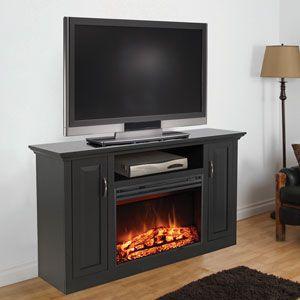 tv media consoles clayton electric fireplace media console espresso