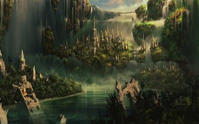 floating city in the sky steampunk Floating cities wallpaper House