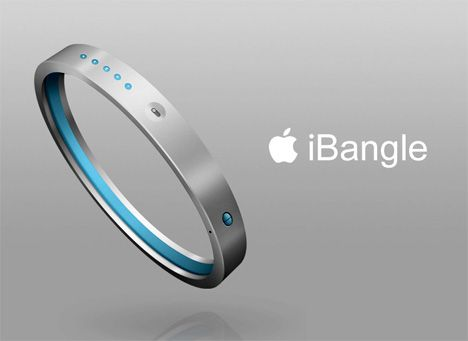 iPod Bracelet with wireless headphones.