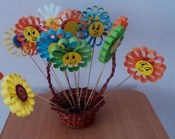 Цветы на палочке поделки