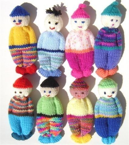 Knitting Patterns For 5 Inch Dolls : PDF Version Comfort Doll Knitting Pattern Easy to Make 5 ...