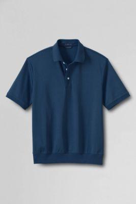 Men 39 S Short Sleeve Supima Interlock Banded Bottom Polo Shirt