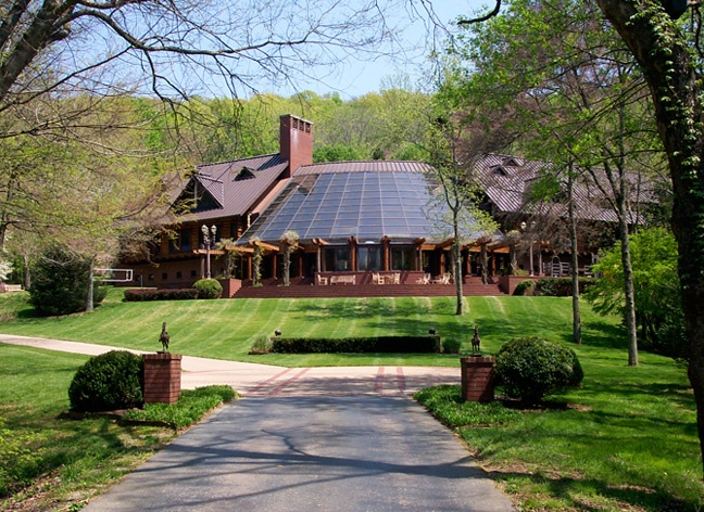 THe worlds largest log cabin masion, talk about dream home right there, they have 13 bathrooms and 4 floors. if you have not been there outside of tn, amazing. They did the movie country strong there, alot of famous country singers did video few of the rooms and outside. <3