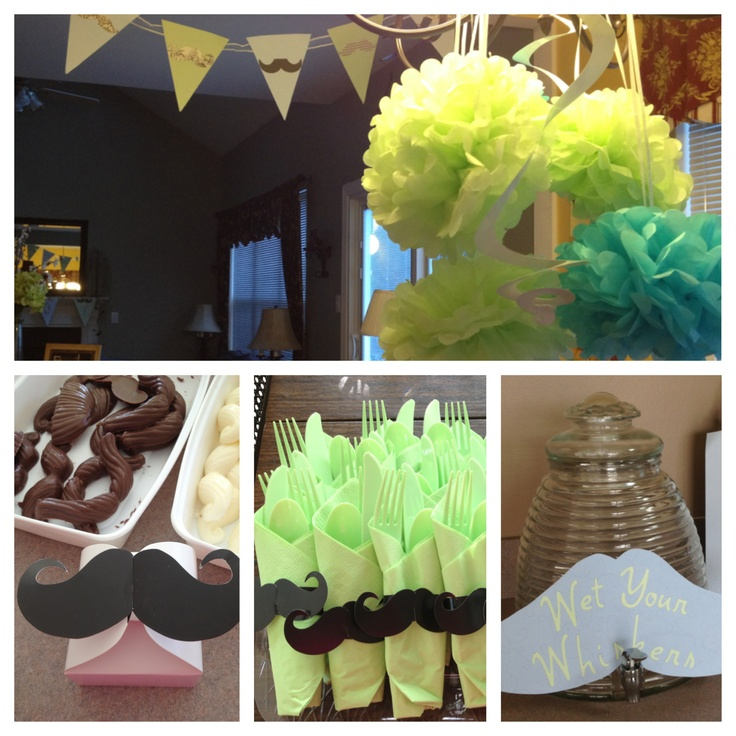 mustache baby shower theme baby stache