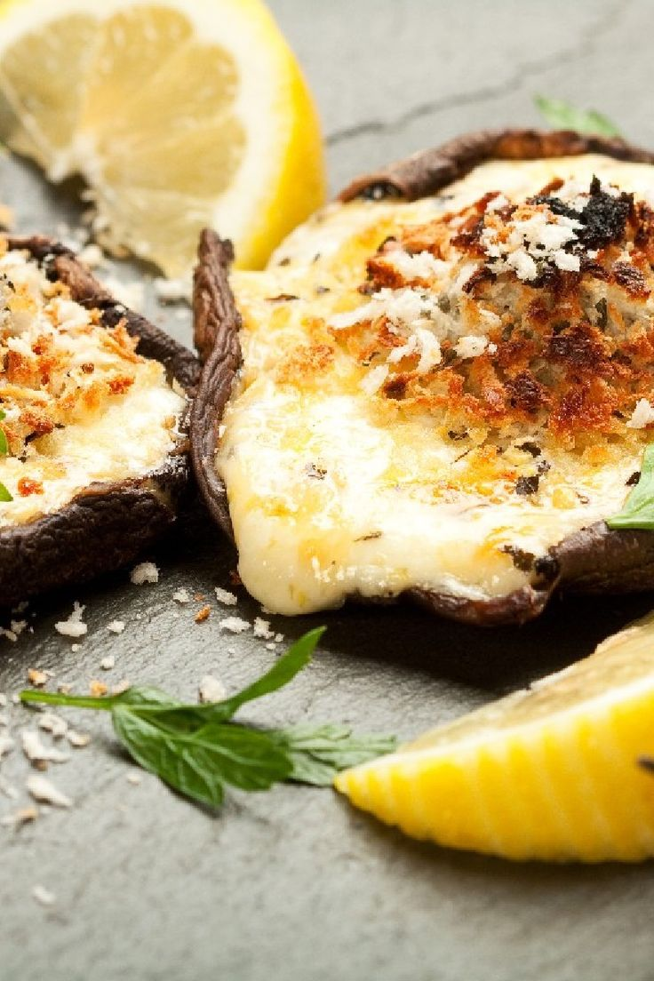 Portobello Mushroom Parmesan #Recipe | Food And Drink | Pinterest