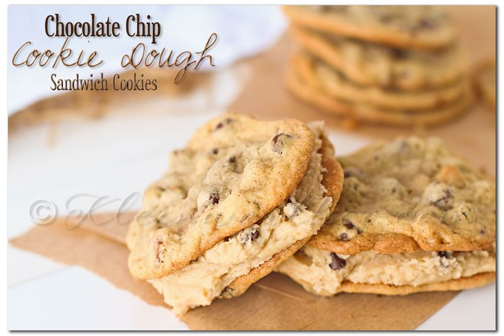 Chocolate Chip Cookie Dough Sandwich Cookie... Oh my!