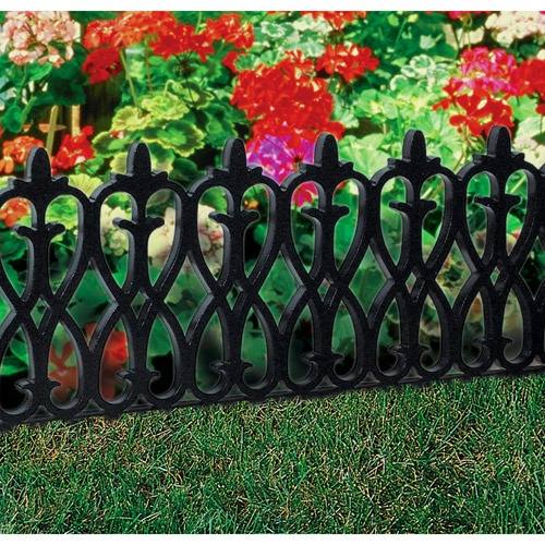 30 39 Deluxe French Ivy Fence Black