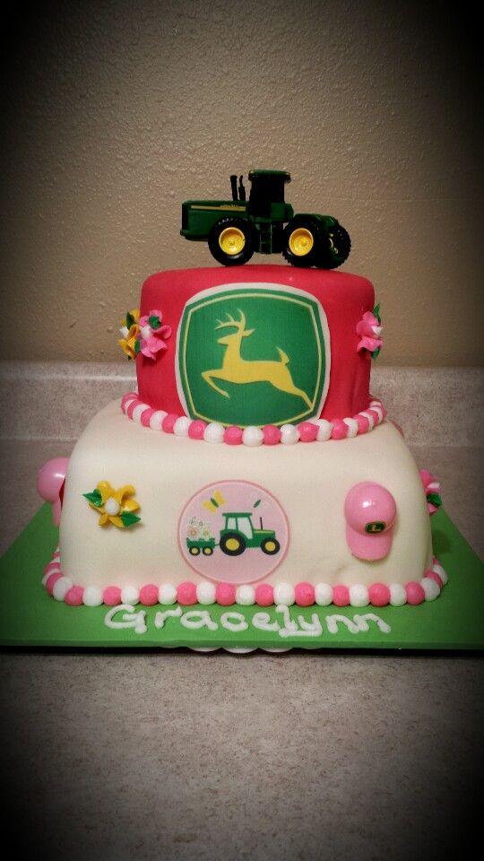 pink john deere cakes