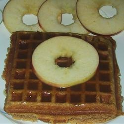 Pumpkin Waffles with Apple Cider Syrup Allrecipes.com