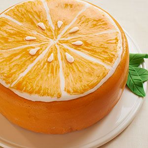 yes it s a cake citrus fans will love this lemon orange cake decorated ...