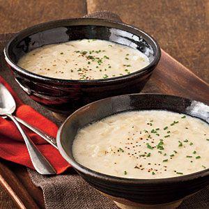 Cream of Potato-and-Onion Soup | MyRecipes.com