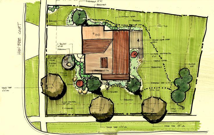 Rendering La Site Design Illustrations Plan Pinterest