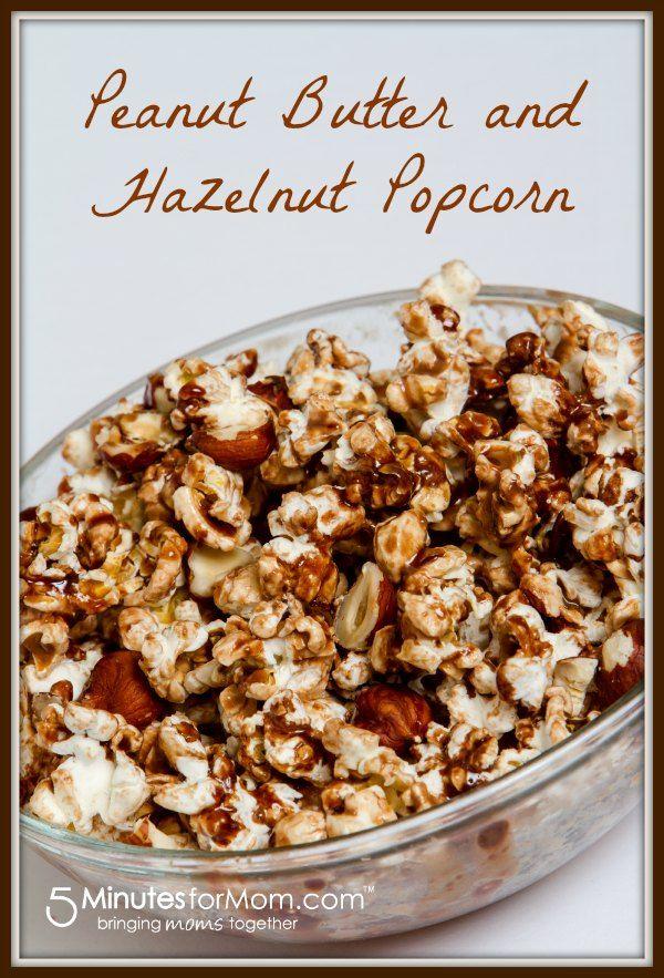Peanut Butter and Hazelnut Popcorn