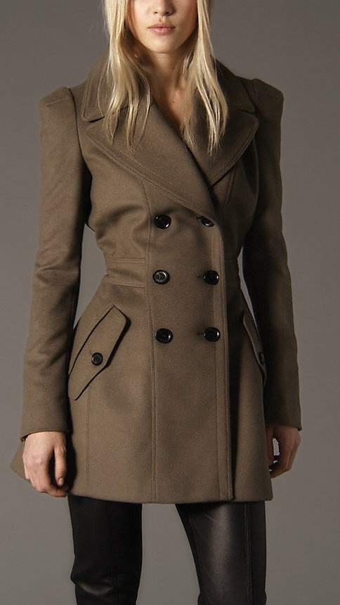 Similiar Burberry Fitted Wool Pea Coats For Women Keywords