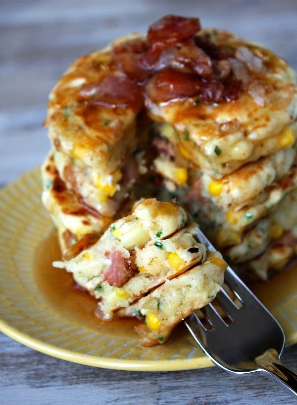 bacon and corn griddle cakes | Food & Drink | Pinterest