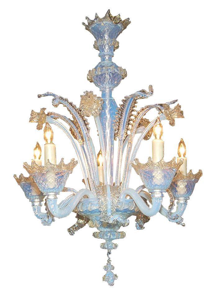 Venetian Glass Chandelier Art Glass From Venice Italy