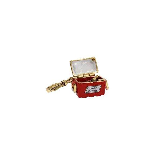 Juicy Couture – Red & White Cooler with Champagne – Gold Plated Charm