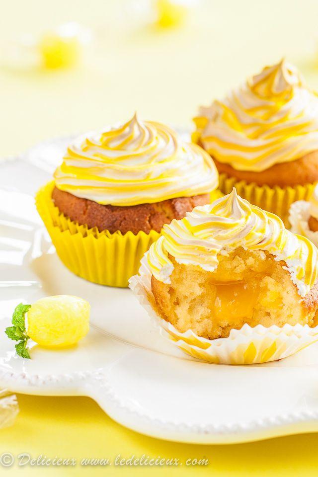 Lemon Meringue Cupcakes @delicieux