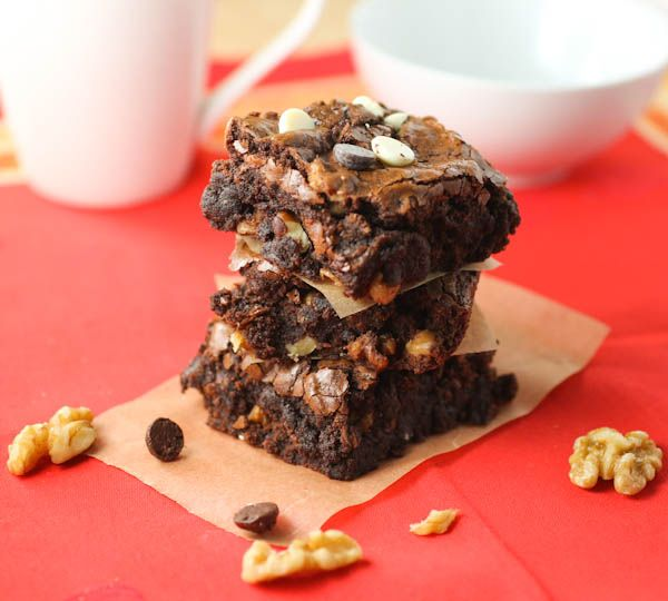 Triple-Chocolate Brownies | Food...Bars | Pinterest