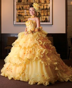 Yellow wedding dress available in every color