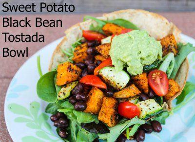 Sweet Potato Black Bean Tostada Bowls | A Healthy Journey - Food | Pi ...