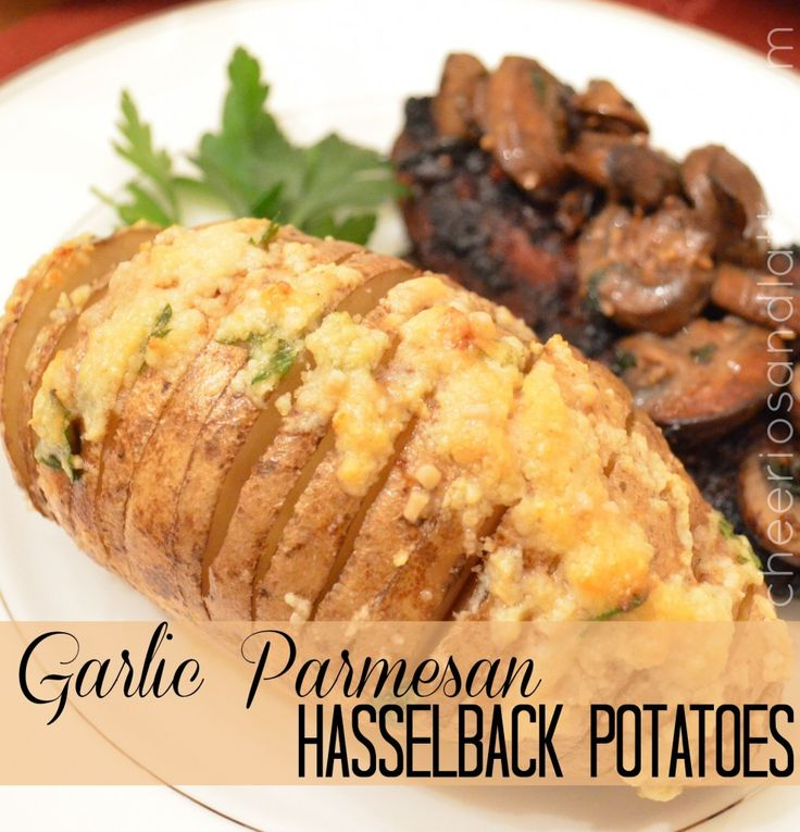 Garlic Parmesan Hasselback Potatoes | why do I love food?! | Pinterest