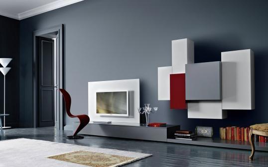 wohnzimmer ideen tv wand:Wohnzimmer tv wand ideen : TV Wand Lampo L2 19 Wohnzimmer Möbel home