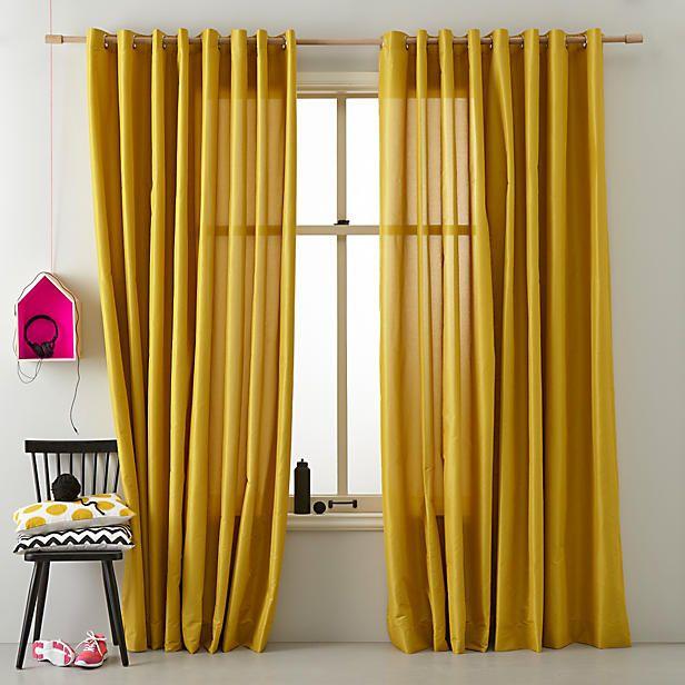 Ochre curtains