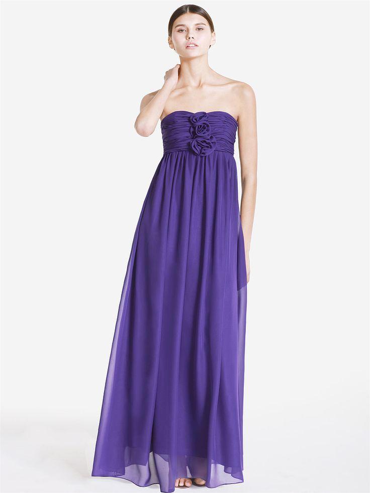 Deep Purple Wedding Dresses : Deep purple chiffon dress prom homecomeing