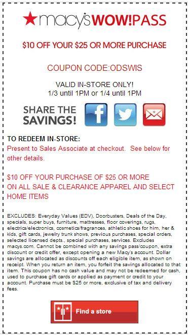 Macy's perfume coupon codes