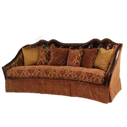 Custom 8 way hand tied italian leather fabric sofa for Sofa 8 way hand tied