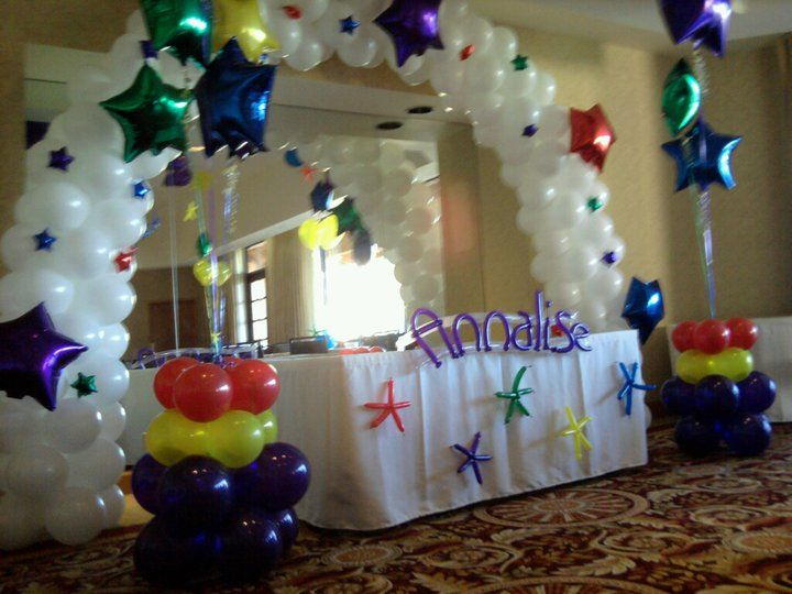 Naming day ceremony arch and decor balloon children for Baby name ceremony decoration
