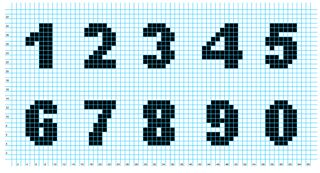 How To Crochet Numbers : Knitted numbers Knit and crochet Pinterest